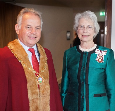 Honourary Freeman Peter Hood with The Lord Lieutenant of Berkshire