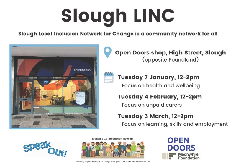 Slough Local Inclusion Network for Change is a community network for all poster